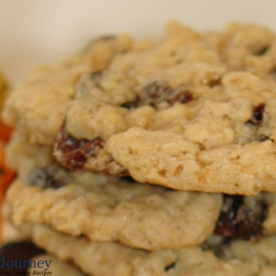 Oatmeal raisin cookies closeup