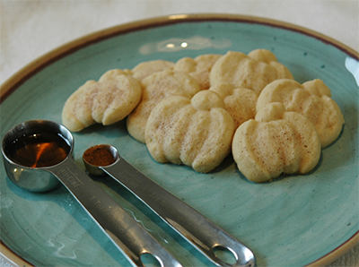 Maple Cinnamon Spritz Cookies