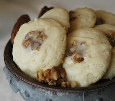 Walnut date with Honey Orange glaze cookies