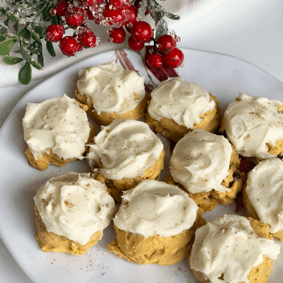 Pumpkin Cranberry Cookies and Cream Cheese Icing
