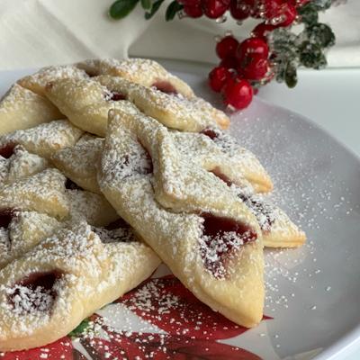 Red Raspberry Kolache Cookies