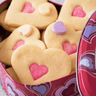 Double Heart Sugar Cookie Feature