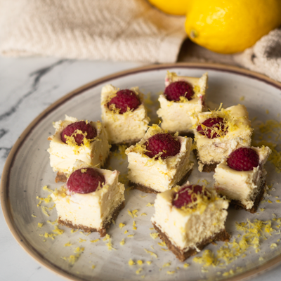 Raspberry Lemon Cheesecake feature