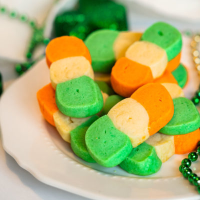 Irish Flag Shortbread Cookies