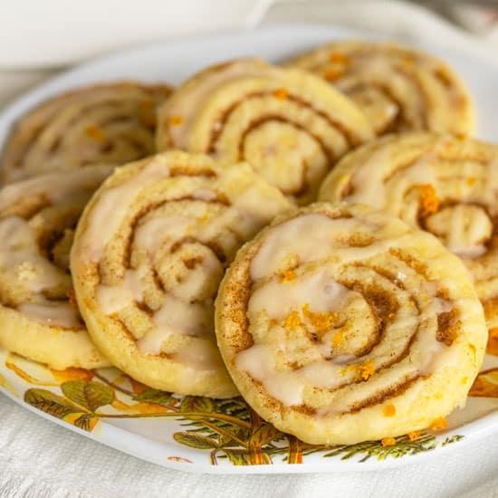 Cinnamon Orange Pinwheel Cookies