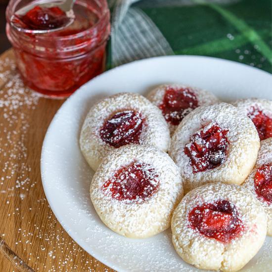 Apple Cranberry Homemade Jam Cookies