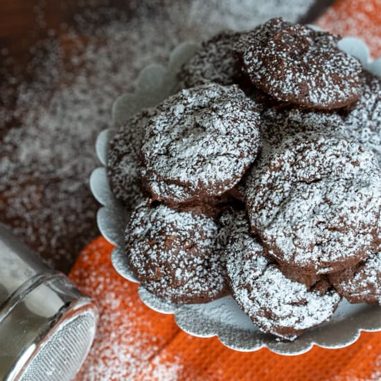 Chocolate Hazelnut Cookies with Espresso Chips