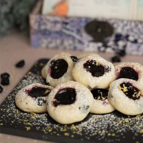 Blueberry with Blueberry Jam Cookies