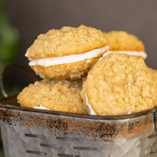 Oatmeal Cream Filled Cookies