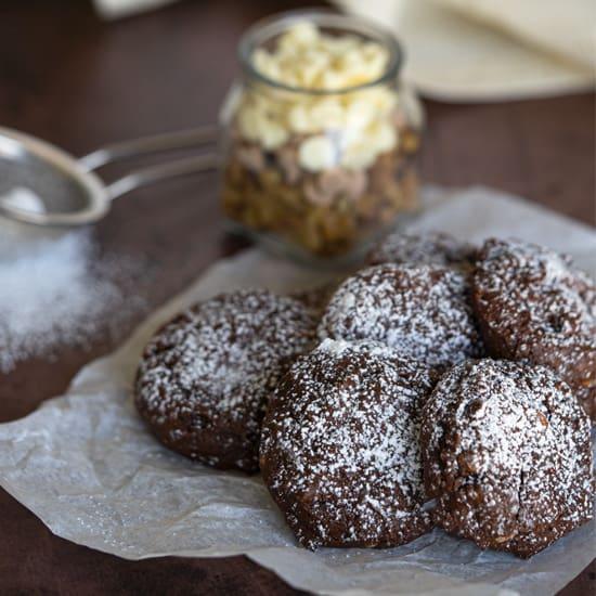 White Chocolate and Caramel Chocolate Cookies