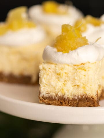Pineapple cheesecake bites category