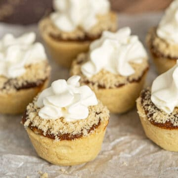 Shoofly Pie Cookie Cups with Whip Cream on Top.