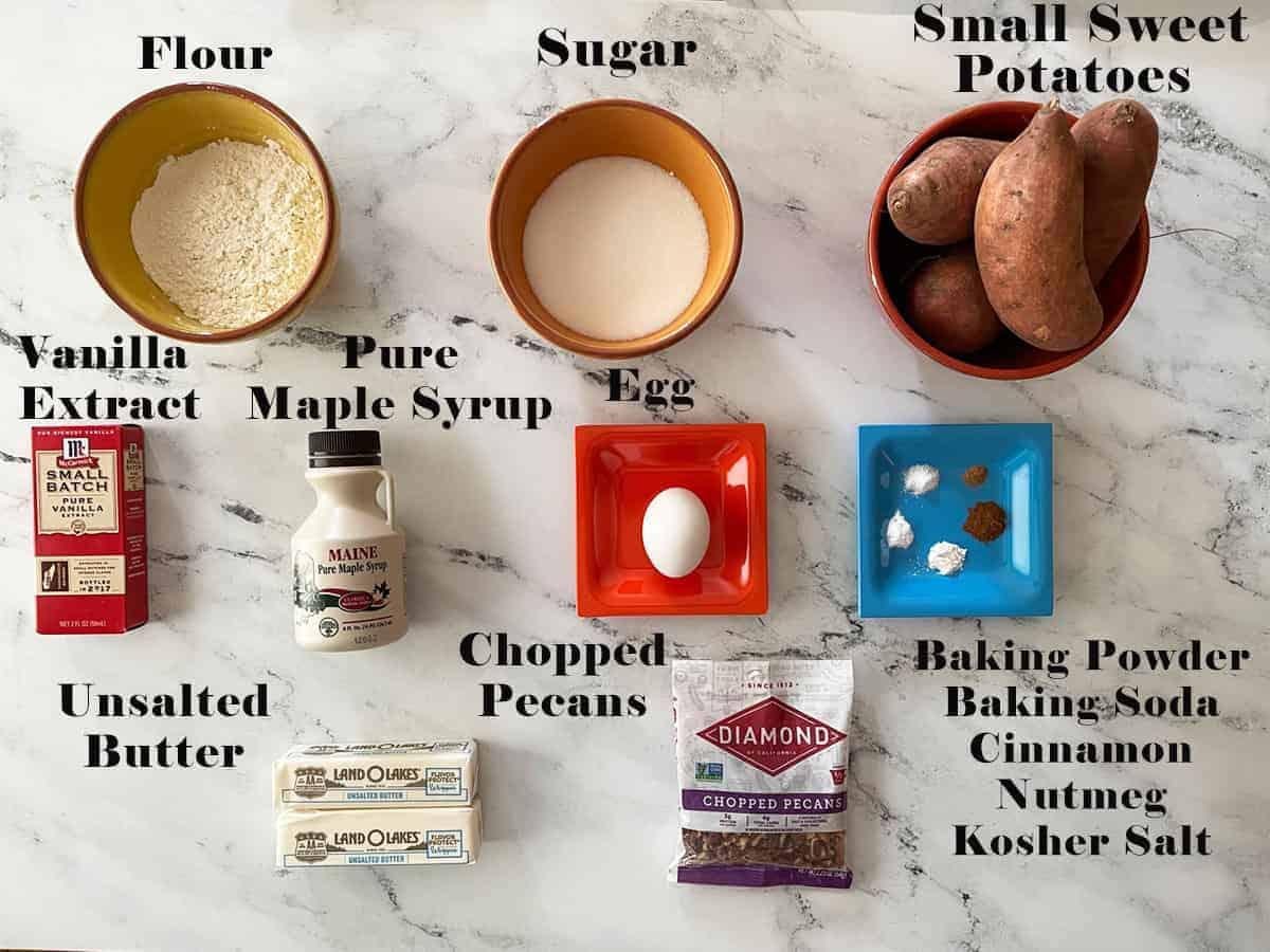 Southern Sweet Potato Pie Cookies Ingredients.